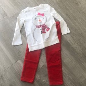 Size 4T Christmas Outfit.  EUC